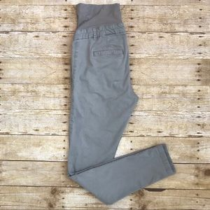 H&M Gray Maternity Pants with Belly Band Size 8